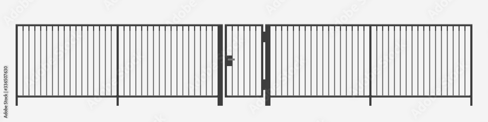 Fototapeta modern vertical bar metal fence