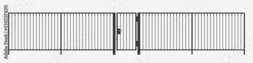 Obraz na plátně modern vertical bar metal fence