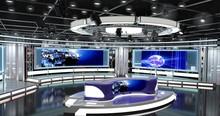 Virtual TV Studio News Set 1-4...