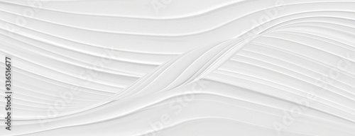 White background with beautiful light lines in a modern design. Gradient gray textural waves, template for splash.