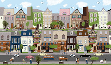 City Landscape! Vector Cute Il...