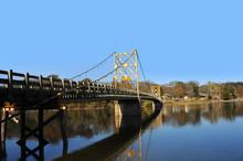 Wooden Bridge Painted Yellow
