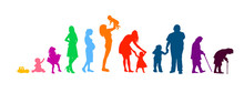 Silhouettes Of People. The Cyc...