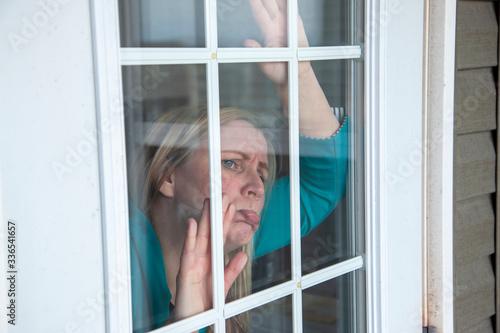 person stuck inside during lock down Obraz na płótnie