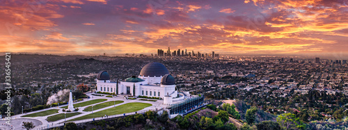 Los Angeles skyline from Griffith park Wallpaper Mural