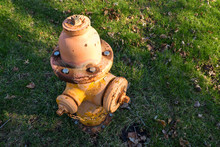 Closeup Of Weathered Fire Hydrant