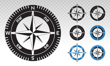 Compass Rose Or Wind Rose Vect...