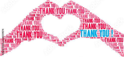 Fotografia Thank You animated word cloud on a white background. .