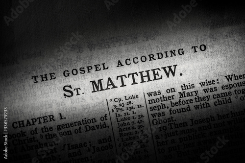 The book of Matthew in the King James Version of the Bible Wallpaper Mural