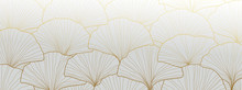 Luxury Gold Ginkgo Wallpaper Design Vector.