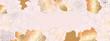 Luxury Rose gold floral wallpaper design vector, Golden rose pattern design background for wedding, banner, card, cover, and packaging design background. Vector illustration.