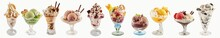 Assortment Of Ice-cream Sundae...