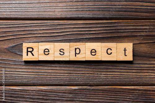 Fototapeta respect word written on wood block