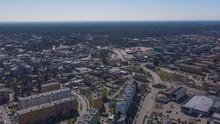 Aerial Wide Angle Timelapse Of...