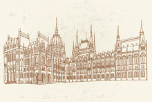 Vector Sketch Of Hungarian Par...