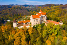 Medieval Pernstejn Castle, Cze...
