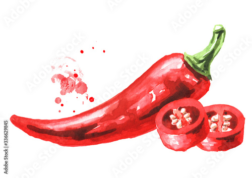 Foto Red hot chili pepper