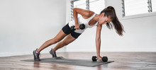 Home Fitness Plank Row Workout...