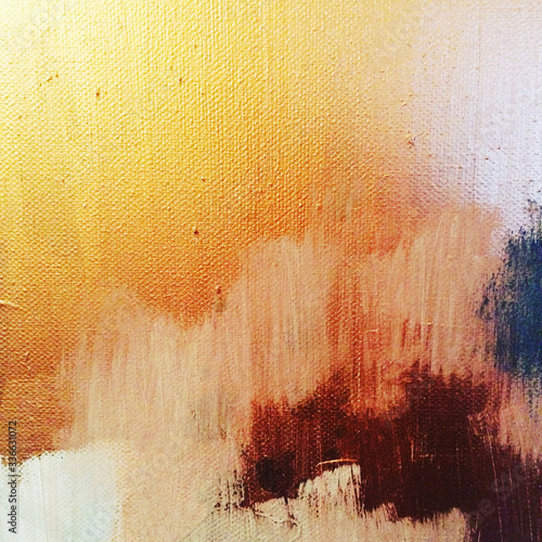 Artistic abstract acrylic vibrant painted canvas background Canvas Print