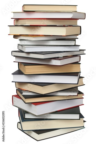Fotomural Stack of book on white