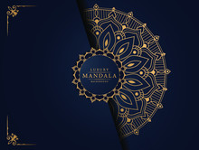 Luxury Mandala Background With Golden Arabesque Pattern Arabic Islamic East Style For Wedding Card, Book Cover.