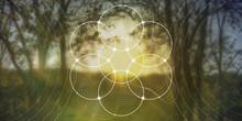 Sacred Geometry Web Banner. Ma...