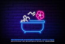 Glowing Neon Spa Bath Line Wit...