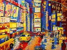 City Street In New York