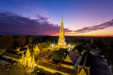 The Pagoda Of Wat Phra That Panom Temple In Nakhon Phanom, Thailand.