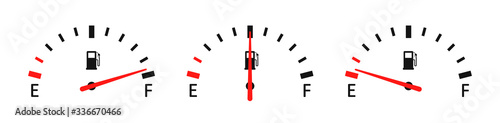 Fotomural Fuel full set. Vector icon