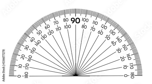 Fotomural Protractor ruler isolated on the white background