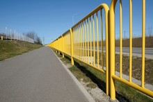 Yellow Metal Safety Barriers A...