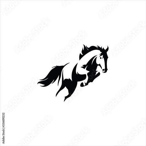 Fényképezés Animal horse logo vector design templates