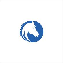 Animal Horse Logo Vector Desig...