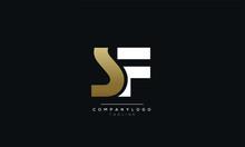 SF Letter Logo Alphabet Monogr...