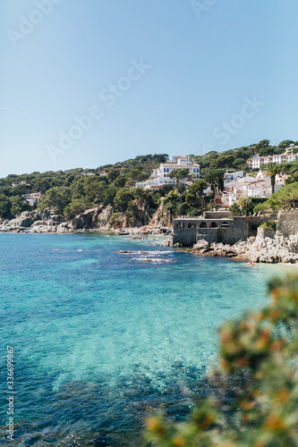 Obraz na płótnie Beautiful Beach Landscape of Calella Palafrugell, Girona, Cataluña, España