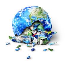 Global Pollution Concept. A Pl...