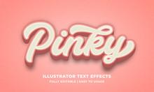 Pink Bold 3d Text Effect