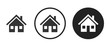 Detached house icon . web icon set .vector illustration