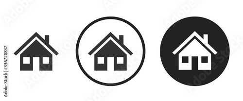 Fotografía Detached house icon . web icon set .vector illustration