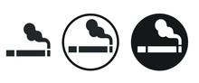 Smoking Icon . Web Icon Set .vector Illustration