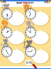 Telling Time Educational Task ...