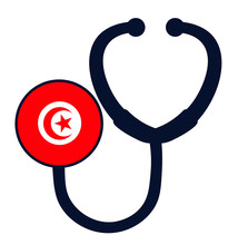 Tunisia National Flag On Steth...