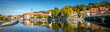 canvas print picture - Panoramic view over historic downtown of Landsberg am Lech, Bavaria