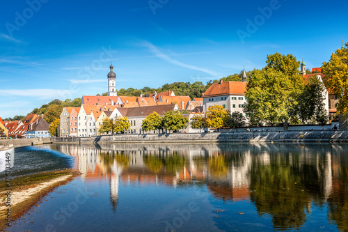 View over historic downtown of Landsberg am Lech, Bavaria