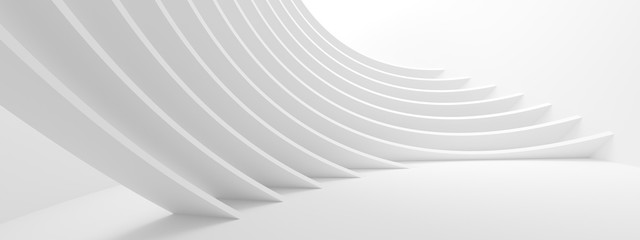 Abstract Technology Background. Minimal Architecture Design. White Industrial Wallpaper