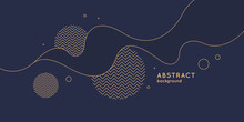 Poster With Dynamic Waves. Vec...