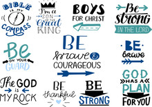 Logo Set With Bible Verse And ...