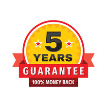 5 Years Guarantee 100% Money B...