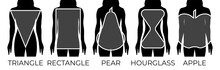 Woman Body Shapes Triangle, Re...